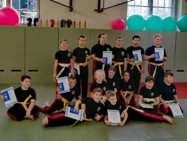 Kinder Kickbox-Pruefung 2019
